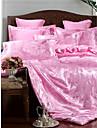 nevresim setleri lüks polyester jakarlı 4 adet yatak takımları / 400 / 4pcs (1 nevresim, 1 düz levha, 2 shams) kraliçe