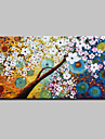 Oil Painting Hand Painted - Abstract / Floral / Botanical Modern Canvas