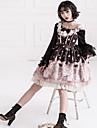 달콤한 로리타 스위트 로리타 쉬폰 여성용 드레스 코스프레 옐로우 / 그린 / 핑크 포엣 긴 소매 Midi 의상