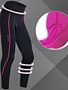 Nuckily Mujer Mallas de Ciclismo Bicicleta 3/4 Medias/Corsario Pantalones Prendas de abajo Mantiene abrigado Resistente al Viento Transpirable Deportes Color solido Poliester Gris / Rosa Ciclismo de