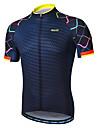 Arsuxeo Heren Korte mouw Wielrenshirt - Navy Gradient Fietsen Shirt Reflecterende strips Zweetafvoerend Sport 100% Polyester Bergracen Wegwielrennen Kleding