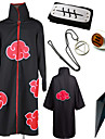 Inspirado por Naruto Akatsuki / Hidan Anime Disfraces de cosplay Trajes Cosplay / Mas Accesorios Estampado Capa / Mas Accesorios Para Hombre