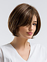 Human Hair Capless Wigs Human Hair Straight Side Part Natural Hairline Multi-color Capless Wig Women\'s Daily Wear