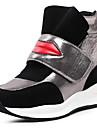 Γυναικεία Παπούτσια άνεσης Συνθετικά Άνοιξη & Χειμώνας Αθλητικό / Καθημερινό Αθλητικά Παπούτσια Τακούνι Σφήνα Λευκό / Μαύρο
