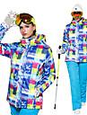 Wild Snow Femme Veste et Pantalons de Ski Coupe Vent Chaud Ventilation Ski Multisport Sports de neige Polyester Ensemble de Vetements Tenue de Ski / Hiver