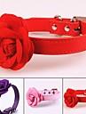 Chiens Colliers Portable Retractable Chiens & Chats Couleur Pleine Fleur Cuir PU / Cuir polyurethane Violet Rouge Rose