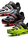 SANTIC Chaussures de Velo de Montagne Nylon Antiderapant, Sechage rapide, Ultra leger (UL) Cyclisme Noir / Blanc / Noir / Rouge / vert fluorescent Homme / Grille respirante / Respirable / Scratch