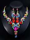 Mujer Clasico Conjunto de joyas Elegante, Europeo Incluir Pendientes colgantes Collar Rojo / Azul / Champana Para Boda Diario