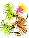 4 pcs خطافات صيد الأسماك خدع الصيد خدع الصيد المعدنية الكربون الصلب سهولة التثبيت يسهل حملها ضوء ومريحة الغرق الصيد البحري طعم الاسماك صيد الأسماك الغزلي / صيد الكالماري / إغراء الصيد / الصيد العام