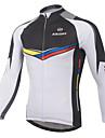 XINTOWN Ανδρικά Μακρυμάνικο Φανέλα ποδηλασίας - Λευκό Ποδήλατο Αθλητική μπλούζα Αναπνέει Γρήγορο Στέγνωμα Υπεριώδης Αντίσταση Χειμώνας Αθλητισμός Ελαστίνη Patchwork Ποδηλασία Βουνού Ποδηλασία Δρόμου