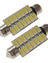 sencart 2szt 41mm żarówki samochodowe 7w smd 5730 420 lm 14 białe / ciepłe białe światła wewnętrzne led / światła zewnętrzne