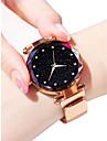 Damen Uhr Armbanduhr Goldene Uhr Quartz Legierung Schwarz / Blau / Lila 30 m Wasserdicht Imitation Diamant Analog damas Glanz Modisch Astronomisch Purpur Blau Rotgold