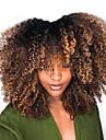 Remy kosa Netretirana  ljudske kose 4x4 Zatvaranje Lace Front Perika Kratak Bob stil Brazilska kosa Mongolska kosa Afro Kinky Kinky Curly Perika 250% Gustoća kose s dječjom kosom Prirodna linija za