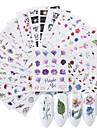 24 pcs Calcomanias de Unas 3D Etiqueta engomada de la transferencia Flor arte de unas Manicura pedicura Ecologica / Multi Function Moda Diario