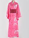 Inspirado por Amar viver Fantasias Anime Fantasias de Cosplay Ternos de Cosplay / Chimono Floral / Botanico / Padrao Acessorios de Cintura / Capa de Kimono Para Homens / Mulheres