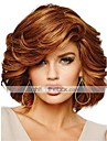 Human Hair Capless Wigs Human Hair Curly Side Part Medium Machine Made Wig Women\'s