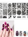 1 pcs Stempling plade Skabelon Romantisk Serie Universel / genanvendeligt Negle kunst Manicure Pedicure Europæisk / Fransk Daglig / Maskerade