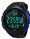 Heren Sporthorloge Digitaal horloge Japans Digitaal Silicone Zwart 30 m Waterbestendig Alarm Kalender Digitaal Modieus - Zwart Zwart / Blauw / Chronograaf / Stopwatch / s Nachts oplichtend