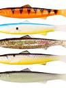 5 pcs خدع الصيد طعم صيد لين قيادة بلاستيك سهلة الاستخدام الطفو الصيد البحري صيد أسماك علي الطائر طعم الاسماك / صيد الأسماك في الجليد / صيد الأسماك الغزلي / القفز صيد الأسماك / صيد الكالماري