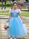 Cinderella Disfrace de Cosplay Chica Ninos Halloween Navidad Halloween Carnaval Festival / Celebracion Tul Algodon Accesorios Azul / Rosa Princesa