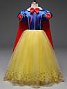 Prinsesse Cosplay Kostumer Barne Jente Kjoler Mesh Jul Halloween Karneval Festival / hoeytid Tyll Polyester Gul Karneval Kostumer Blonder