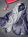Sin Mangas 100% Seda Boda / Fiesta / Noche Bufandas de Mujer Con Fruncido / Ondulado Chales / Bufandas
