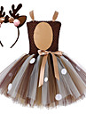 Kjoler Julkjole Santa Clothe Barne Jente Kjoler Jul Jul Nytt AAr Festival / hoeytid Blonde Tactel kaffe Karneval Kostumer Blonder Jul