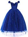 Princesas Cinderella Disfrace de Cosplay Chica Ninos Activo Halloween Navidad Halloween Carnaval Festival / Celebracion Organdi Algodon Accesorios Azul Oscuro Superficie de Cristal