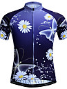 JESOCYCLING Women\'s Short Sleeve Cycling Jersey - Purple Floral / Botanical Plus Size Bike Jersey Top Breathable Quick Dry Sports Polyester Mountain Bike MTB Road Bike Cycling Clothing Apparel