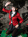 Inspired by Kakegurui Yumeko Jabami Anime Cosplay Costumes Cosplay Suits Houndstooth Long Sleeve Cravat / Skirts / Coat For Women\'s