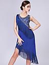 Latein-Tanz Kleider Damen Leistung Milchfieber Quaste / Pailetten AErmellos Kleid