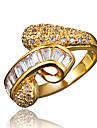Per donna Bianco Zircone cubico Classico Anello Anello della promessa avvolgere l\anello Placcato in oro 18k Diamanti d\imitazione Importante Alla moda Romantico Di tendenza Elegante Anelli trendy