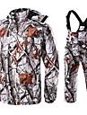 Herre Dame camouflage Jagtjakke m. bukser Udendørs Fleecefoer Hold Varm Anti-Slid Tøjsæt Forår Efterår Bomuld 100% Polyester Jagt, Fiskeri, Camping / Vandring / Grotte Udforskning