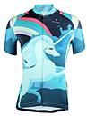ILPALADINO Dame Kortærmet Cykeltrøje - Blå Cykel Trøje UV-resistent Sport 100% Polyester Tøj