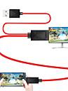 Micro USB 2.0 HDMI 1.4 Αρσενικό - Αρσενικό 1.8M (6ft)