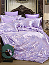 Duvet Cover Sets 3D / Luxury / Chinese Style Silk / Cotton Blend Jacquard 4 PieceBedding Sets