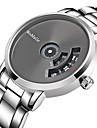 Heren Dress horloge Kwarts Roestvrij staal Zilver Stootvast Cool Analoog Digitaal Informeel Modieus - Wit Zwart Een jaar Levensduur Batterij