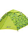 Sheng yuan 3 osoby Rodinné kempování stan Outdoor Větruvzdorné Odolné vůči dešti Prodyšnost dvouvrstvé Camping Tent 2000-3000 mm pro Plážové Kempování a turistika cestování Tkanina Oxford 350*200*135