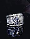 Pánské Kubický zirkon Retro styl Band Ring S925 Sterling Silver Kytky Klasické Vintage Elegantní Fashion Ring Šperky Stříbrná Pro Svatební Zásnuby 6 / 7 / 8 / 9